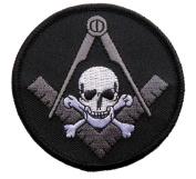 MASONIC Widows Sons Skull Bones SQUARE COMPASS Patch iron on