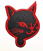 HHO Cat Halloween Patch Embroidered DIY Patches, Cute Applique Sew Iron on Kids Craft Patch for Bags Jackets Jeans Clothes