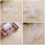 Vintage Style Lace Ribbon,Lace Roll, 6CM Widths 10 Yards White Lace Trimming Bridal Wedding Birthday Parties Decoration