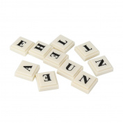 Scrabble Tiles, Sumilulu Plastic English Alphabet Banana Spelling Game Banana Chess Puzzle Toys Gift