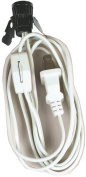 Jandorf 60138 Clip-in Candelabra Lamp Socket/Switch With On/Off Switch, SPT-1, 18 ga, 75 W, White