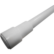 Excell Adjustable 220cm Glide-N-Set Tension Rods, White