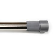 Excell Adjustable 220cm Glide-N-Set Tension Rods, Brushed Nickel