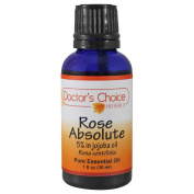 Doctor's Choice 100% Pure Rose Absolute Therapeutic Grade Essential Oil with Jojoba Oil And Rose Absolute Essential Oil 30ml