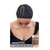 Model Model Lace Crochet Wig Cap with Comb 13cm #GB102 Black