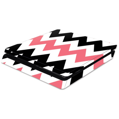 Skin Decal Wrap for Sony PlayStation 4 Slim PS4 Black Pink Chevron