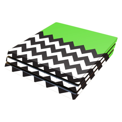 Skin Decal Wrap for Sony PlayStation 4 Pro PS4 Lime Chevron