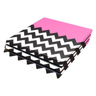 Skin Decal Wrap for Sony PlayStation 4 Pro PS4 Pink Chevron