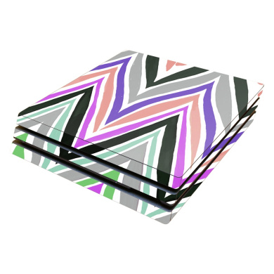 Skin Decal Wrap for Sony PlayStation 4 Pro PS4 Colourful Chevron