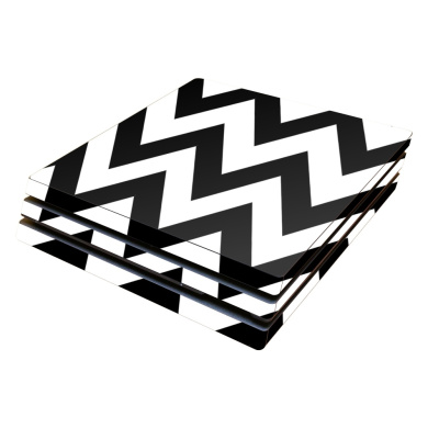 Skin Decal Wrap for Sony PlayStation 4 Pro PS4 Black Chevron