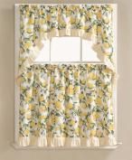 Lemon Fest 3 Pc. Kitchen Curtain Tier & Swag Set
