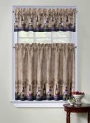 Regal Home Collections Cabernet Kitchen Curtain Tier & Valance Set