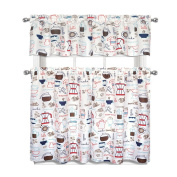 Coffee Shoppe 3 Pc. Complete Kitchen Curtain Tier & Valance Set