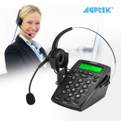 AGPtek Call Centre Dialpad Headset Telephone with Tone Dial Key Pad & REDIAL