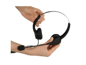 AGPtek Handsfree Call Centre Noise Cancelling Corded Dual 3.5mm Audio PlugHeadset Headphone with Mic Mircrophone