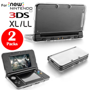 2Pcs Plastic Crystal Protective Hard Clear Cases Cover for New Nintendo 3DS XL LL