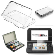 Cover Case + Screen Protector + Game Card Holder for New Nintendo 3DS XL/LL DS