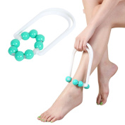 Sichun Leg Slimming Massager Foot Calf Diet Magic massage shapely legs Relax 8 Balls Body shaping Roller – reduce fat, tight skin, body building – fitness trainer recommend