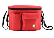 Stroller Organiser Portable Baby Nappy Bag Stroller Travel Carry Bag Adjustable Shoulder Bag for Moms Deer Red