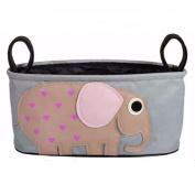 Kids Baby Child Infant Holder Stroller Organiser Bag, Grey, Elephant
