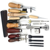 18Pcs Leather Craft Hand Stitching Sewing Tool Set For DIY Leathercraft Projects