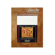 Block Printing Paper Pack By Black Ink Papers-White 23cm x 30cm 25/Pkg