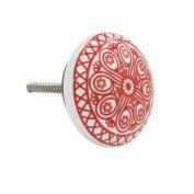 Shabby Restore Wheel Flat Ceramic 4.1cm Knob Pull