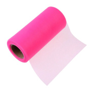 25Yards/Lot 15cm Tissue Tulle Roll Paper Wedding Decoration Spool Craft Birthday Party Baby Shower Wedding Decor Supplies - Pink