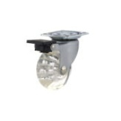Contemporary Clear Furniture Caster - 35056010501 - Total Height 5.7cm , Fastening Type Fixed