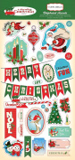 Carta Bella Paper Company a Very Merry Christmas 6x13 Chipboard