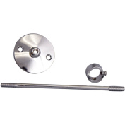 Decor Plumb Shower Riser Wall Support Assembly, Polished Chrome