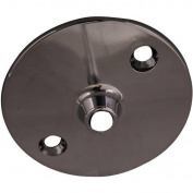 Decor Plumb Round Flange for Ceiling Support, Polished Chrome