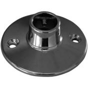 Decor Plumb Shower Rod Flange, Polished Chrome