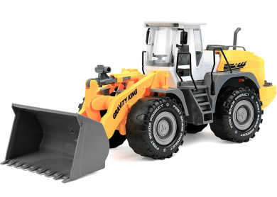 Click N' Play Friction Powered Bulldozer Tractor Truck Construction Toy Vehicle for Kids