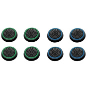 Insten 8 pcs Green & Blue Controller Analogue Thumbstick Cap for Microsoft Xbox 360/Xbox One Sony PlayStation 2/3/4