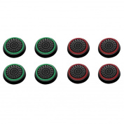 Insten 8 pcs Green & Red Controller Analogue Thumbstick Cap for Microsoft Xbox 360/Xbox One Sony PlayStation 2/3/4