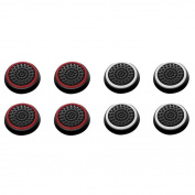 Insten 8 pcs Red & White Controller Analogue Thumbstick Cap for Microsoft Xbox 360/Xbox One Sony PlayStation 2/3/4