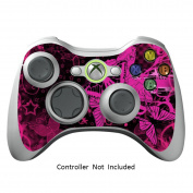 Skin Stickers for Xbox 360 Controller - Vinyl Leather Texture Sticker for X360 Slim Wired Wireless Game Controllers - Protectors Stickers Controller - Pink Butterfly