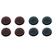 Insten 8 pcs Red & Blue Controller Analogue Thumbstick Cap for Microsoft Xbox 360/Xbox One Sony PlayStation 2/3/4