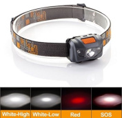 New Head Light Headlamp Weight Led Head Torch Camping Hunting Lamp Wateproof Pro
