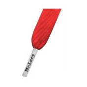 Mr Lacy Flatties Laces - Coloured Tips Red/white
