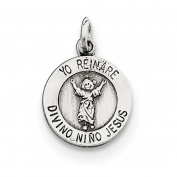 Sterling Silver Divino Nino Medal
