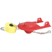 KORKY Rubber Adjustable Flapper, Red, For Use With Most Toilets 2004BP