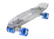 Ridge Skateboards Blaze Mini Cruiser Skateboard - Transparent White Deck/blue,
