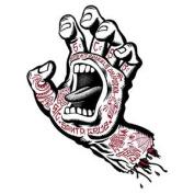 Santa Cruz Tattoo Hand Skateboard Sticker - White 15cm