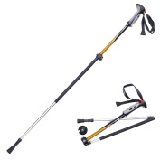 Naturehike 1pc Folding Collapsible Carbon Fibre Trekking Poles, Lightweight Adjustable Aluminium Alpenstock, for Climbing Hiking Travel Backpacking Walking