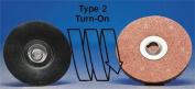 MERIT 08834163199 Locking Disc, AlO, 2.5cm - 1.3cm , 60 Grit, Crs, TS