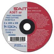 UNITED ABRASIVES-SAIT 23050 Abrsv Cut Whl, 7.6cm D, 0.09cm T, 1cm AH