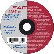 UNITED ABRASIVES-SAIT 23061 CutOff Wheel,A36T,10cm x.160cm x 1.6cm ,19000rpm G2278291