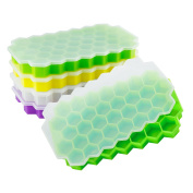 37 pc Geometric Ice Cube Maker Quality Silicon Ice Cube Tray Easy Release by Elevesee Kitchen